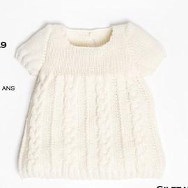 Breipatroon baby jurkje van Cheval ....