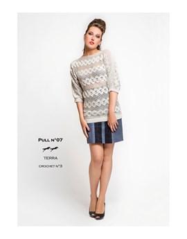 Haakpatroon trui met driekwart mouw en ....