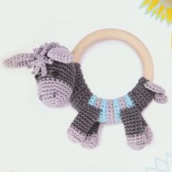 haakpatroon rammelaar-ezeltje