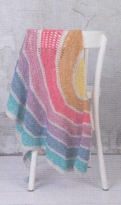 Haakpatroon Sjaal Asymmetrisch