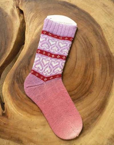 Breipatroon Sokken met hartjes