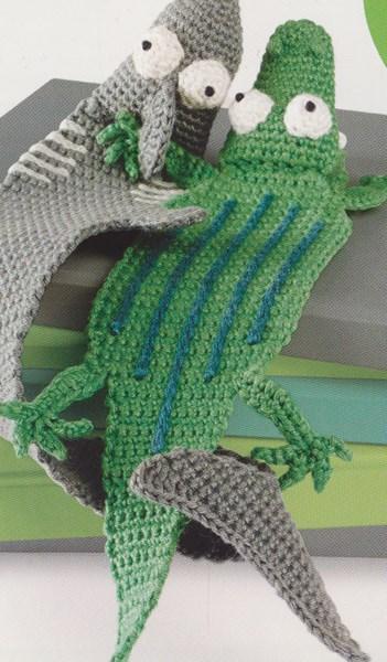 Haakpatroon Boekenlegger Katinka Krokodil