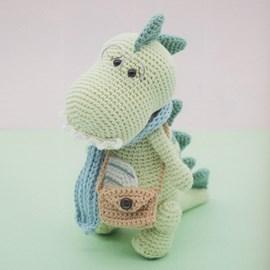 Haakpatroon Rex de dinosaurus met sjaal ....