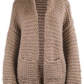 lang Yarns Lang yarns breipatroon Chilly Milly, grof gebreid damesvest met zakken. Dit vest is gebreid op pendikte 10 en 12 met het garenLang yarns wooladdicts Fire.