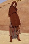 Breipatroon Sjaal met capicon van andere kant