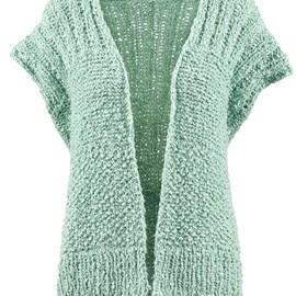 lang Yarns Lang Yarns breipatroon mouwloos damesvest in parel- en ribbelsteek gemaakt van het garen Liberty.