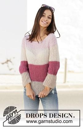 Breipatroon trui met strepen, gemaakt ....