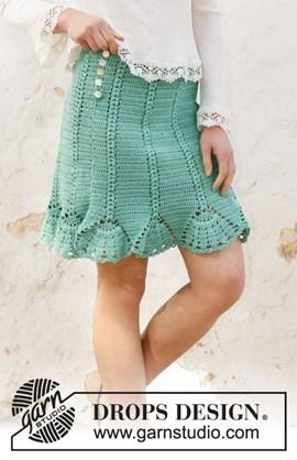 Haakpatroon rok met waaierrand, gemaakt ....