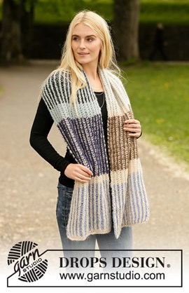 DROPS breipatroon urban autumn scarf, ....