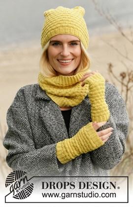 Breipatroon muts, sjaal en halswarmers ....