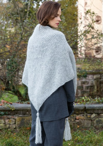 Brei- en haakpatroon Driehoekige sjaal