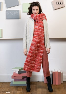 Breipatroon warme lange sjaal van het ....