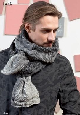 Breipatroon herensjaal, gemaakt van ....