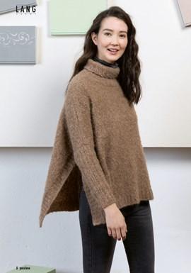 Breipatroon damescape-trui met een ....