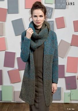 Breipatroon lang damesvest/jas, gemaakt ....