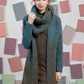lang Yarns Breipatroon lang damesvest/jas, gemaakt van Lang Yarns Lusso en Ario.