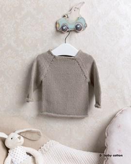 Breipatroon baby trui in parelsteek, ....