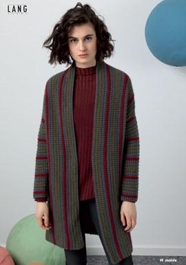 Haakpatroon damesvest/jas, gemaakt van ....