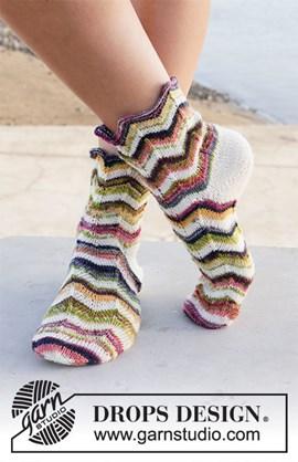 DROPS breipatroon sokken Serpentines ....