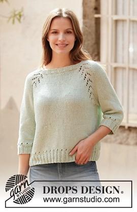 DROPS breipatroon Mint Tea Sweater, ....