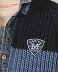 Breipatroon Jongens trui / jas van andere kant