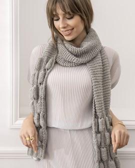 Breipatroon dames sjaal Perrette in ....