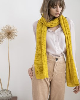 Breipatroon dames sjaal Pearl. Deze ....