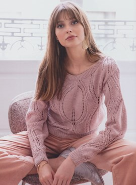 Breipatroon damestrui Paola, deze trui ....