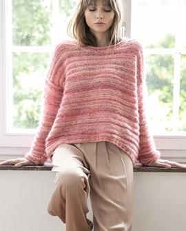 Breipatroon damestrui Patty, deze trui ....