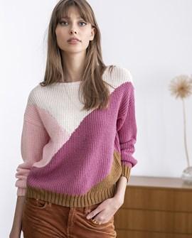 Breipatroon damestrui Polly, deze trui ....