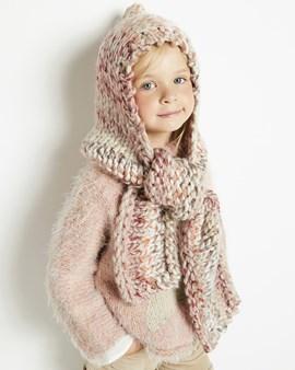 sjaal met muts voor meisjes