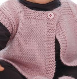 Breipatroon mouwloos vestje voor baby ....