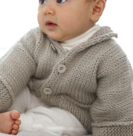 Breipatroon baby jasje met kraagje van ....