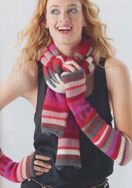 Gebreide sjaal of polswarmer, wil je ....