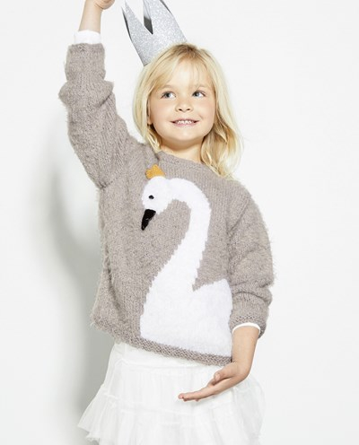 Brei- en haakpatroon Meisjes trui