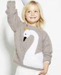 Brei- en haakpatroon Meisjes trui van andere kant