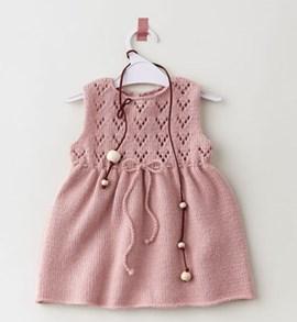 Breipatroon baby jurkje met ....