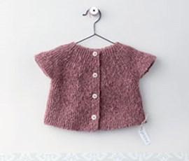Breipatroon baby vestje met korte ....