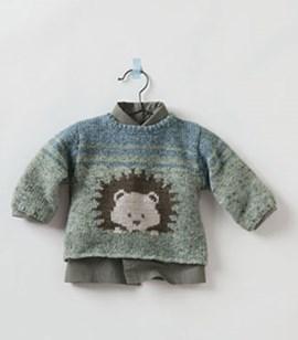 Breipatroon baby trui met inbreipatroon ....