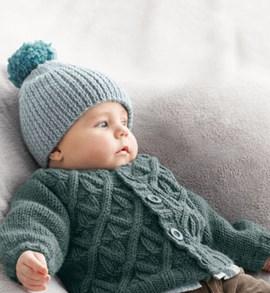 Breipatroon babyvest met gevlochten ....