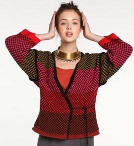 Gebreiden vest in verschillende kleuren.