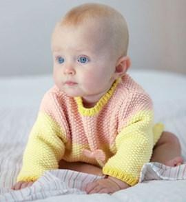 Breipatroon baby trui in rijstkorrel ....