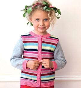 Vestje voor kinderen met gestreep voor- ....