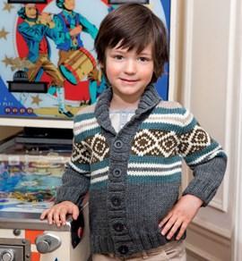 Gebreiden jas voor kinderen met ....