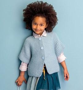 Gebreiden vest voor kinderen met korte ....