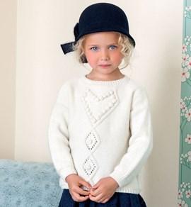 Gebreiden trui voor kinderen met een ....