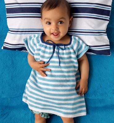 Brei- en haakpatroon Baby jurkje