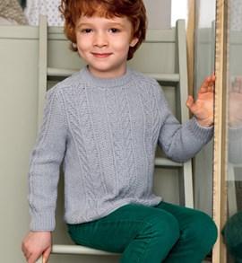 Breipatroon aansluitende jongens trui ....