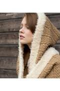 Gebreide dames sjaal met capuchon. 28 x ....