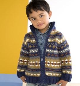 Gebreide vest met jacquard patroon.